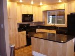 Maple cabinets with Quarts counter tops